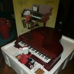 VERY RARE Mr. Christmas Vintage Gold Label Musical Maestro Mouse Grand Piano EUC