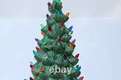 VINTAGE 1960's ATLANTIC MOLD Light Up 32 light up CERAMIC CHRISTMAS TREE RARE