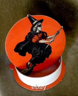 VINTAGE HALLOWEEN CANDY BOX VICTORIAN WITCH. 1920s
