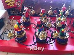 VINTAGE Mr. Christmas Mickey's Marching Band (1992). Tested & with original BOX