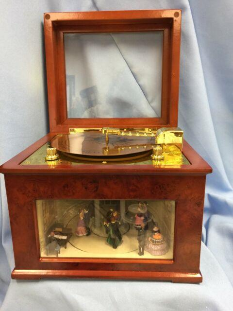 Vtg Mr Christmas Symphonique, Victorian Dancers Move, 48 Songs, Works Well