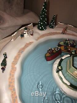 VTG Mr Christmas Winter Waterland COMPLETE WORKS decoration Water Fountain Music