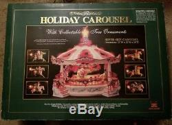 VTG NEW BRIGHT HOLIDAY CAROUSEL WITH Collectable TREES NO. 1100