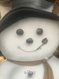 VTG Snowman Bonnie Barrett Boardwalk Originals Dummy Board 52 Christmas Santa