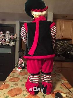 Very Rare By Santa's Best Life Size Animated Musical Santa Elf 41 Tall