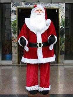 Vickerman Huge Life-Size Decorative Plush Santa Claus Sitting or Standing, 6