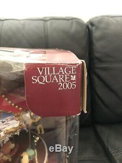 Village Square Triple Decker Carousel Tested Working Excellent Condition 50 Song