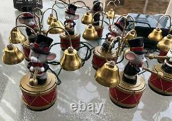 Vintage 1990s Mr. Christmas Santa's Marching Band Mice 35 Songs Works String