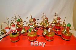Vintage 1991 Mr Christmas Santas Marching Band Musical Holiday Bears 35 Songs