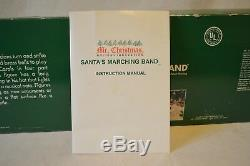Vintage 1991 Mr Christmas Santas Marching Band Musical Holiday Deco 35 Songs