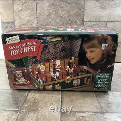 Vintage 1994 Mr Christmas Santa's Musical Toy Chest With Box 35 Songs Works