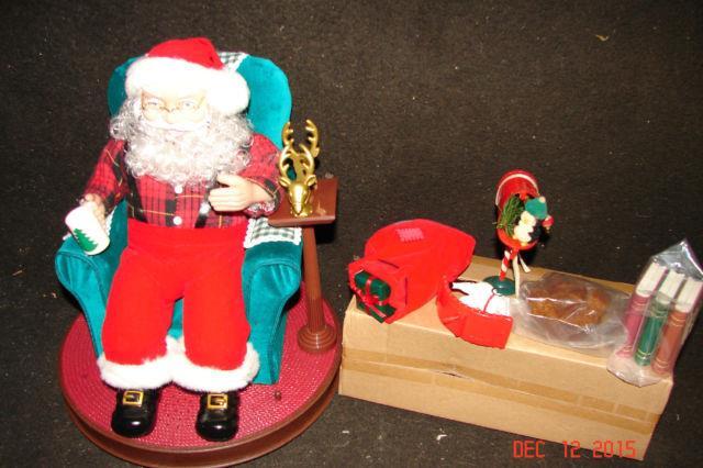 Vintage 1999 Avon Collectible Rare Santa Read Me A Story Animated Display