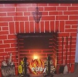 Vintage Christmas Toymaster #1100 Cardboard Fireplace 1960's