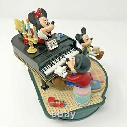 Vintage Disney Enesco Style Mickey & Minnie The Entertainer Action Music Box