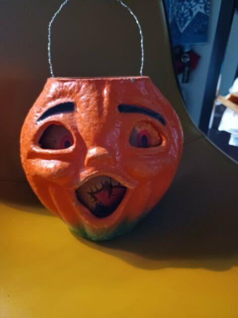 Vintage Halloween Papermache Jack O Lantern