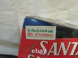 Vintage MR CHRISTMAS Santas Ski Slope Animated Tree Decoration Box