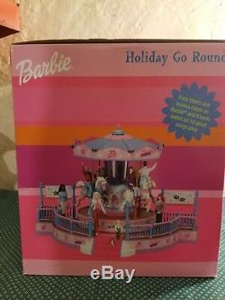 Vintage Mattel Barbie Girls Holiday Go Round Musical Carousel