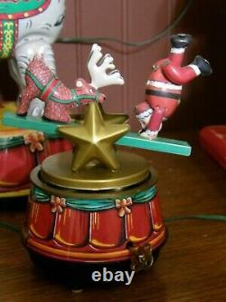 Vintage Mr Christmas At The Circus Animated Musical 22 Carols 6 Tin Characters