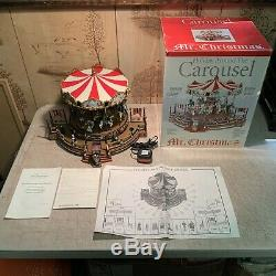 Vintage (Mr. Christmas) Holiday Around The Carousel With Box/Instructions