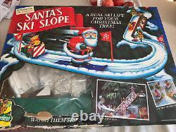 Vintage Mr Christmas SANTA'S SKI SLOPE Animated Complete Tested 1992