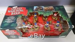 Vintage Mr. Christmas Santa's Marching Band 8 Musicians 35 Songs Drummers