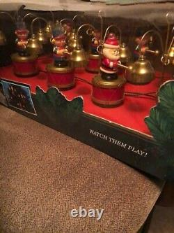 Vintage Mr. Christmas Santa's Marching Band In Original Box Working