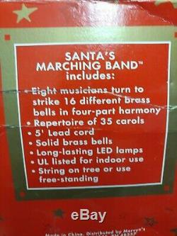 Vintage Mr. Christmas Santas Marching Band Holiday Musical WORKS! Boxed