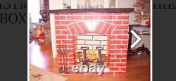 Vintage Noma Electric Christmas Fireplace Fireglow Effect- Cardboard