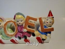 Vintage SUPER RARE Inarco Christmas Candycain NOEL Planter Japan
