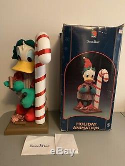 Vintage Santa's Best Disney Donald Duck Christmas Workshop Elf 22 Animated Rare