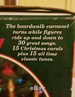 W = Works Great! Mr Christmas Holiday Around The Carousel Animated Musical