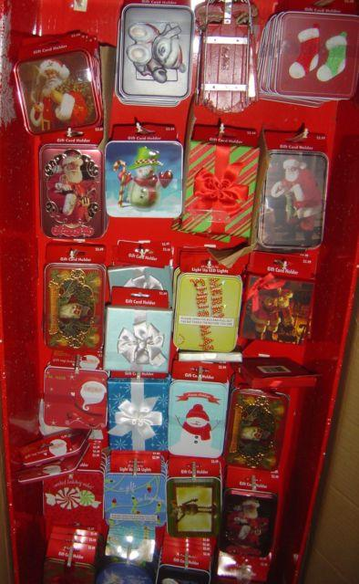 Wholesale Lot 192 Pc Metal Gift Card Holders Resale Christmas Holiday Cards Tins