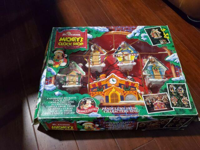 Wow! Mr Christmas Mickey's Clock Shop Animated Lighted Musical 1993. Pre-owned