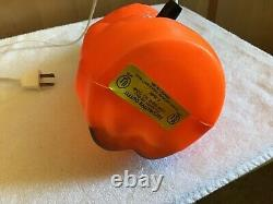 WOW! Vintage Halloween WITCH withBroom Blowmold Empire Blow Mold Decoration ORANGE