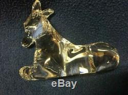 Waterford Millennium Nativity Donkey Original Box & Sleeve Vintage New