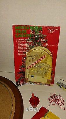 Westrim Beaded Mini Christmas Tree set, with rare decorations! Unique Lot