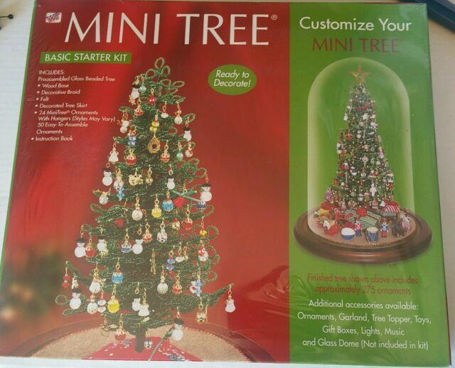 Westrim Beaded Mini Pre-assembled Christmas Tree Kit Collectible New