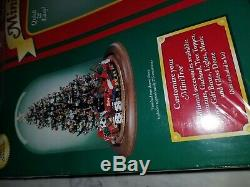 Westrim Glass Beaded Mini Pre-Assembled Collectible Christmas Tree Kit Wood Base