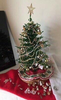 Westrim Mini Glass Bead Christmas TreeLIGHTS WORK70+ ornamentsFULLY ASSEMBLED