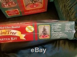 Westrim Mini Glass Beaded Christmas Tree Basic Starter Kit Holiday Pre Lit Tree