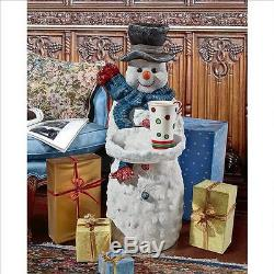 Winter Snowman Christmas Snowball Tray Pedestal Table