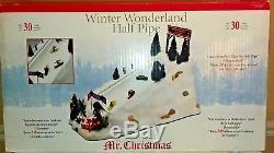 Winter Wonderland Half Pipe Rare Mr Christmas Snowboarding Xmas Decoration 9/10
