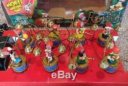 Working Vintage Disney Mickeys Marching Band Mr Christmas 1994 35 Carols