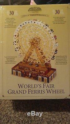 World's Fair Grand Ferris Wheel Rotates Lights Sounds Song Carols Mr Christmas