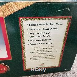 Xmas Holiday Creations 1999 santa Sleigh Reindeer Animated Illuminated musical