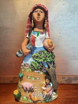 Zapotec Woman Farm Scene Dress Leticia Garcia Aguilar Josefina Oaxaca tree campo